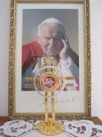 Relikiwe bł. Jana Pawła II na Podgórzu 02.04.2014